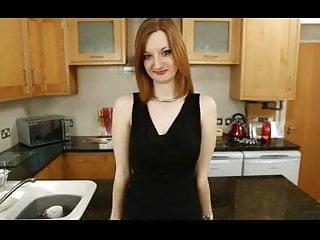 Hot sluts in the kitchen British slut zara frigs herself in the kitchen