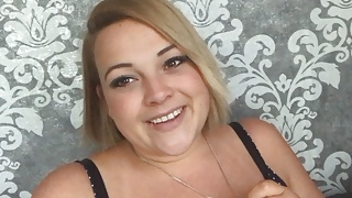 Sexy German Teen BBW with Huge Tits, fat belly Creamy Pussy