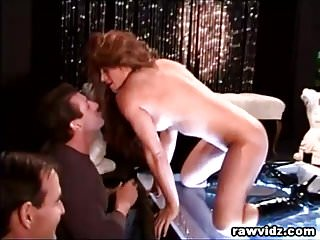 Stripper pole dancer Pole dancer squirting while being anal fucked