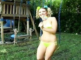 Aubrey huff fist Swing set anal cutie aubrey adams