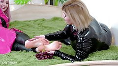 Foot Fetish 4k Video with Food Fetish Lesbian Fun