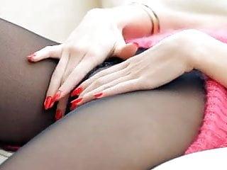 Sexy black hose - Black hosed hottie play