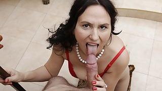 MATURE4K. Brunette mature has sex with stepson