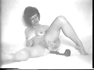 Bottom embossed vintage bottles Bottle in her pussy