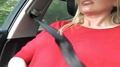 Orgasm in car