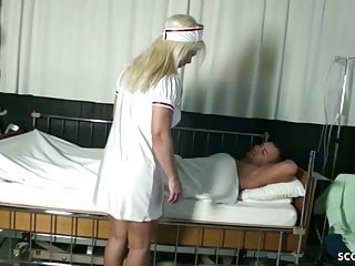Nurse milf fuck German milf nadja nurse help young boy with fuck to get fit
