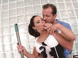 Jackass 3 dick - 3 dick blowbang for brunette maid