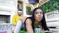 Athletic 18yo Kira Noir has black pussy penetrated and oral