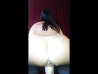 Women in dildo chair - Dildo play with her new chair