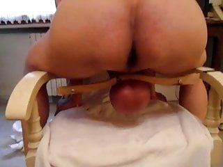 Saline leaks in breasts - Severe mistress infuses saline, whip and exposes her slave