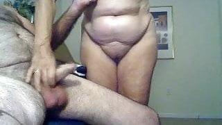 Grandma gets grandpa's cum