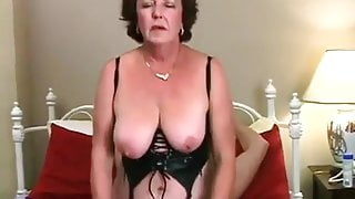 Sexy senior couple has a lot of fun together