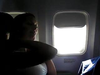 Airplane mature Airplane girlfriend masturbation