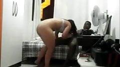 big ass white slut fucks bbc