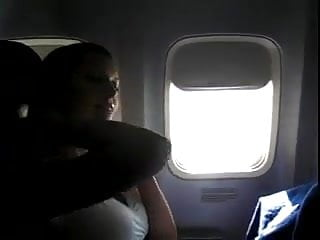 Amateur built airplane - Hot milf wife fingering herself on commercial airplane