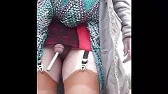 transgender travesti sounding urethral  outdoor road 6a