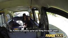 Fake Taxi возбужденная таинственная в маске Maya возвращается за большим такси
