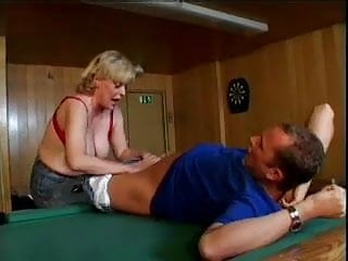 Big granny fuck Granny fuck on pooltable