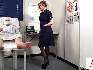 British nurse porn at free ones British nurse voyeur instructing sub patient