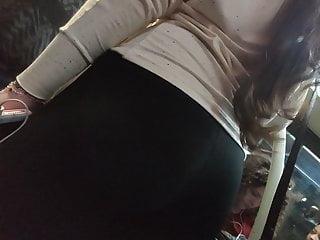 Black tight ass Nice ass hot butt secretary in black tight pants