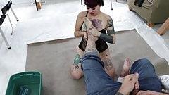 girl worship male feet