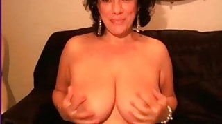 Check My MILF Chubby wife with hairy pussy teasing