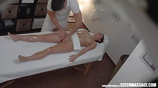 Freaky Masseur Cumming to his Client