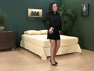 Fat slut short skirt Big tits short skirt and pantyhose
