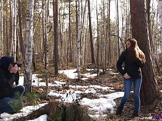 Male stars photographed in the nude - Student blowjob and fucking with photographer in the forest