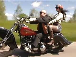 Sexy girls with mean bikers Old biker man fuck beautiful girl