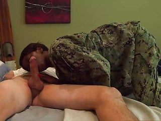 Military woman fucking a doll Black military woman sweet suck white dick