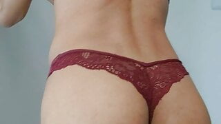 Tight Femboy lingerie try Out (purple edition)