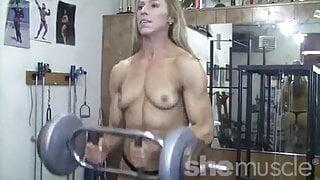 Deen topless flexing