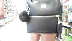 Ass in short skirt