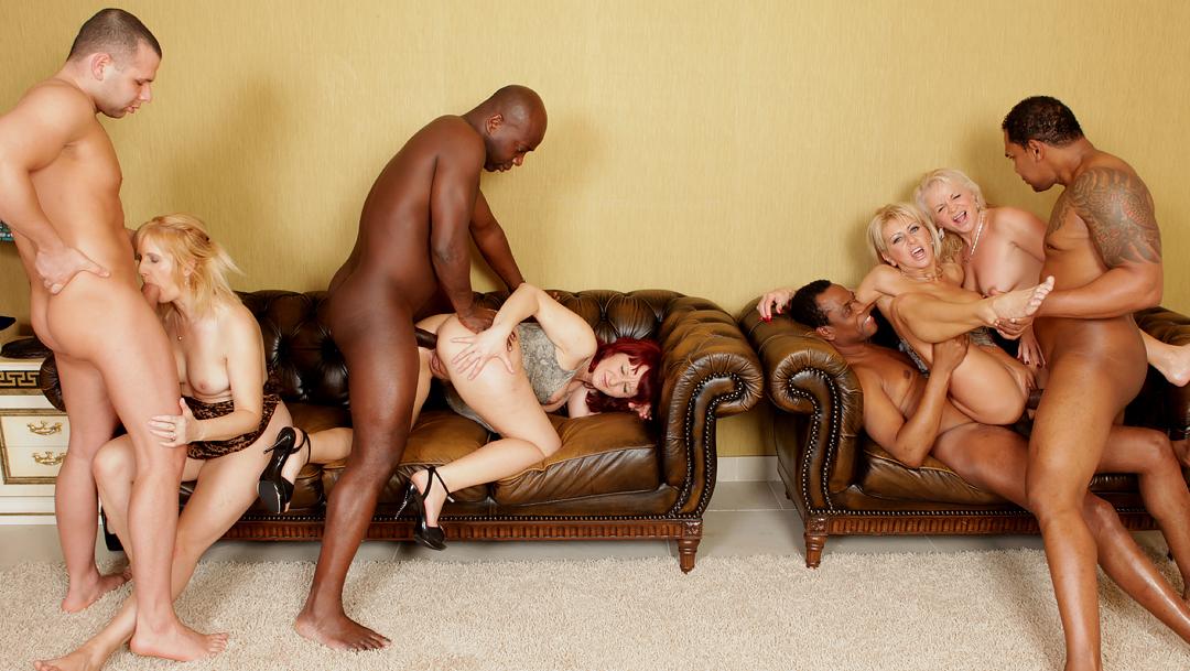 Alexis Breeze Interracial Orgy
