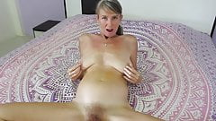 MILF plays with nipples and squirts