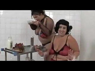 Lesbian foods Bbw lesbian food play
