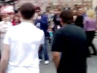 Foreign sluts - Foreign teen slut strips in public