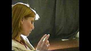 Vintage Blonde Cutie Smoking Fetish