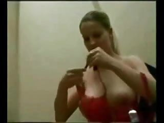 Breasts changes 5 days after ovulation - Big breasted gets quickie in changing room