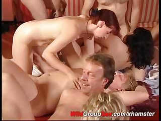 Swinger club sex German swinger club orgy