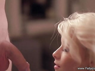 Sexy woman show Deep blow moment of a blonde sexy woman to show love