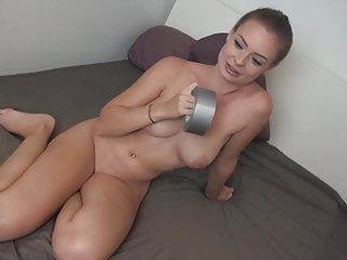 Cheap bondage tape Taped her, fucked her