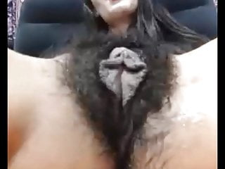 Cunt labia Mature very hairy cunt with long labia