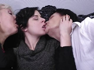 Old young lesbian threesomes - Two grannies and young girl