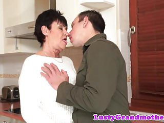 Mature fat cock Dicksucking grandma rides fat cock