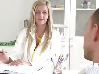 Creampie pussy ends up in panties - Vivid.com - a regular doctor visit ends up in a wild fuck