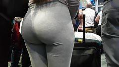 Candid pawg slut in grey!!