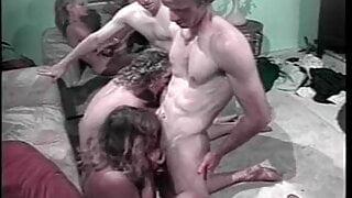 orgy, white urban cock party