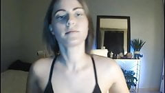 bikini Elisha Mae Teases In Pink Thong butt